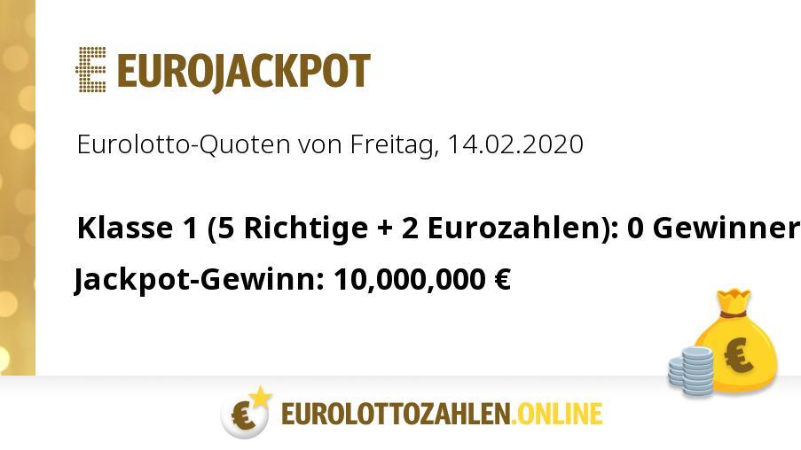 Lotto Eurojackpot Quoten
