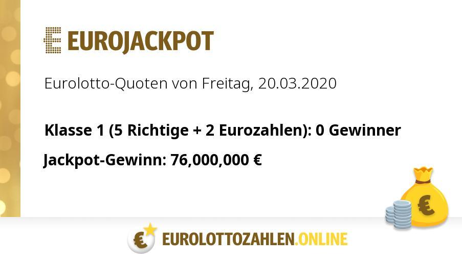 Eurojackpot 20.03 20 Zahlen