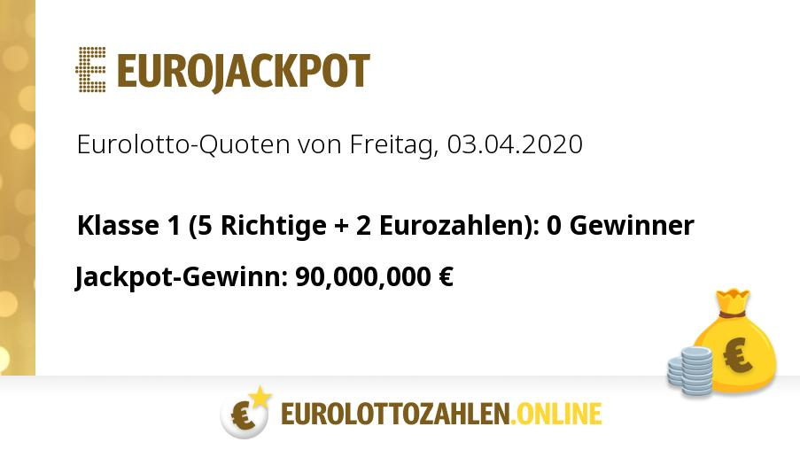Eurojackpot 03.04 20